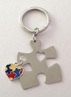 Amazon.com: Autism Awareness Puzzle Piece with Heart Keychain: Everything Else