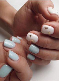 Cute Short Nails, Short Gel Nails, Cute Nails, Cute Spring Nails, Spring Nail Colors, Summer Nails, Acrylic Spring Nails, Acrylic Nails, Short Nail Designs