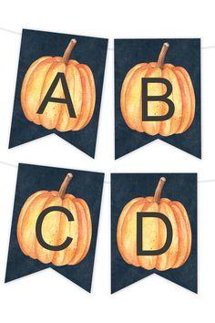 Midnight Pumpkin Printable Banner