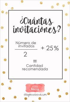 ¿Cuántas Invitaciones de Boda se deben hacer? | El Blog de una Novia | #invitacionesdeboda #boda