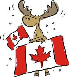Free Moose Clip Art of Canada remembrance day 5 clipart flag moose goose image for your personal projects, presentations or web designs.
