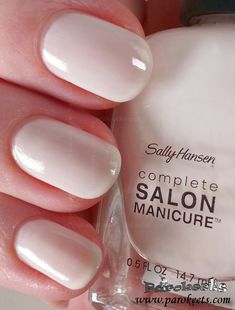 Sally Hansen salon manicure line collection is slowly growing. So far I bought 5 of their nail polishes. Shellac Nail Art, Nail Manicure, Diy Nails, Nail Polishes, Mani Pedi, Neutral Nail Color, Solid Color Nails, Nail Polish Trends, Nail Polish Colors