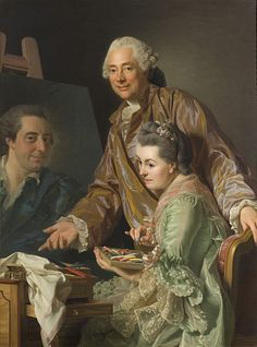 Alexander Roslin and his wife, Marie-Suzanne Giroust, 1767 by Alexander Roslin (1718-1793)
