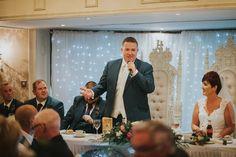 Bushtown Hotel Wedding Photographer Pure Photo N.I grooms speech