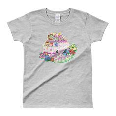 Happy Camper Ladies' T-shirt (Colour Choice)