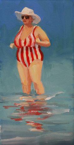 "Daily Paintworks - ""lets get this party started"" - Original Fine Art for Sale - © Carol Carmichael Painting People, Figure Painting, Painting & Drawing, Arte Pop, Plus Size Art, Fat Art, People Art, Beach Art, Art Plastique"
