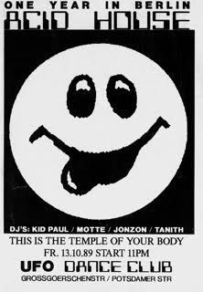 1989 German Techno Poster | graphics | Acid house, Graphic design