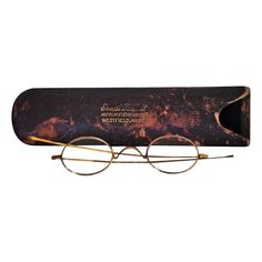 Antique Gold Plated Spectacles with Leather Case - $195.