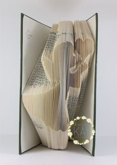 Book Folding Pattern Angel With Heart 239 Folds (B10)