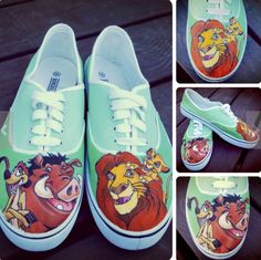 e73c7caa39cc The lion king painted shoes Painted Vans