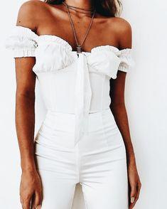 White + off the shoulder.