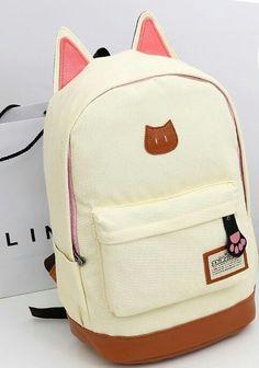 30 Productos Kawaii por los que aprenderías Japonés Canvas Backpack, Backpack Bags, Kitty Backpack, Travel Backpack, Cooler Look, Cute Backpacks, Kawaii Shop, Pusheen, Cute Bags