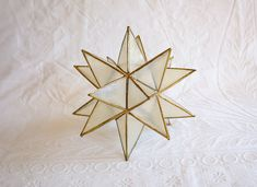 Capiz Shell Star Sculpture, Shelf Decor