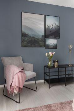 Tegnet sitt eget drømmehjem Paint Colors For Home, House Colors, Country Interior Design, Scandinavian Bedroom, Common Area, Home Look, Interior Inspiration, Decoration, New Homes