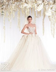 The #WhiteRealm #Bridal #HauteCouture Collection by Ziad Nakad