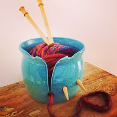 Earth Wool & Fire Yarn Bowl with cut out design.