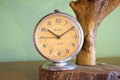 Soviet alarm clock,vintage desk clock,ussr retro mechanical clock,office home decor,wake up,table desk clock,russian vintage souvenir,1970s