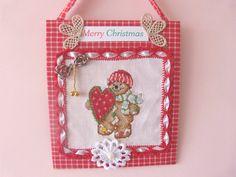 Cake xmas ornaments by CrossStitchElizabeth on Etsy