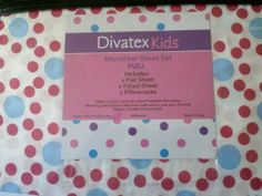 Divatex Kids Full Microfiber Sheet Set by Divatex. $27.90. 100% Polyester. Machine Washable. 1 Flat, 1 Fitted, 2 Standard Pillowcases. Divatex Kids Full Microfiber Sheet Set. Divatex Kids Full Microfiber Sheet Set