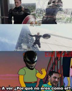 Aah c mamo! Memes Marvel, Avengers Memes, Marvel Funny, Marvel Dc Comics, Funny Comics, Marvel Avengers, Dankest Memes, Funny Memes, Mundo Marvel