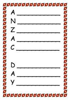 anzac day worksheets - Google Search