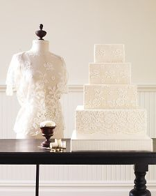 MSW and NYC pastry chef Ron Ben-Israel cast bridal lace in silicone molds to create the cakes (like this one!) featured in our Spring 2010 issue.