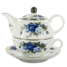 Tea for one! And with the Moonlight Blue Rose pattern I collect!