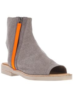 MM6 BY MAISON MARTIN MARGIELA Cut Out Ankle Boot  at grethen house
