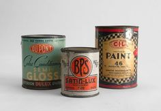 mid century paint cans