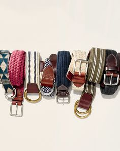 J.Crew men's belts.