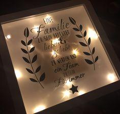 Ribba Rahmen zum Geburtstag  Mit Sterneneffektfolie und Lichterkette