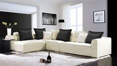 Albany White Sectional Sofa