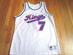 3da372968ef0 Vintage 90 s Champion NBA Sacramento Kings Bobby Hurley Jersey Size 44