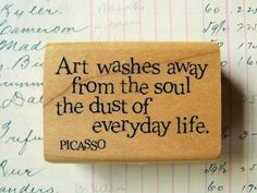 Art washes away from the soul the dust of everyday life.  - Picasso  ‪#‎art‬ ‪#‎artwork‬ ‪#‎artist‬