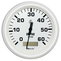 "Faria Dress White 4"" Tachometer w/Hourmeter - 6,000 RPM (Gas - Inboard) - https://www.boatpartsforless.com/shop/faria-dress-white-4-tachometer-whourmeter-6000-rpm-gas-inboard/"