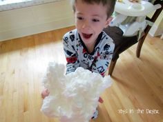 Ivory soap + Microwave = Cloud Soap Bar... we are SO doing this!