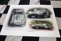 You may well have seen Chris at many of the countries motoring shows like, The Autosport Racing Car Show, Race Retro, Goodwood and at Essen overseas. JAGUAR E TYPE TRIBUTE. Jaguar E Type, Jaguar Cars, Limited Edition Prints, Car Show, Painting Prints, Cars For Sale, Racing, Classic, Artwork