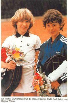 Steffi und Fred.... a very young Steffi Graf