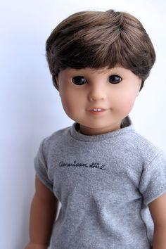 "Custom 18"" American Girl Doll BOY ~ Brown Eyes, Brown Hair, Outfit Custom American Girl Dolls, American Girls, Brown Eyes, Brown Hair, Ag Dolls, Doll Crafts, Boy Clothing, Clothes, Boy Outfits"