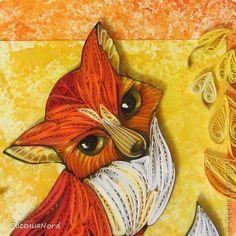 Картина панно рисунок Праздник осени Квиллинг Листопадничек Бумажные полосы фото 4