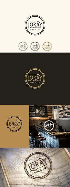 "Aylin Hakova Graphic Design: Лого дизайн за ""Loray - Vine & Tap"" (изтънчени вин..."