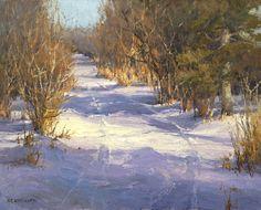 A Winter Walk by Kim Casebeer Oil ~ 16 x 20