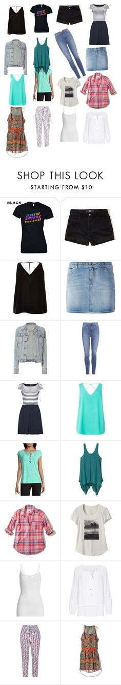 """""""4x4 Capsule Wardrobe Summer"""" by majannsche ❤ liked on Polyvore featuring Hollister Co., River Island, Givenchy, rag & bone, Paige Denim, French Connection, Dorothy Perkins, Liz Claiborne, prAna and RVCA"""