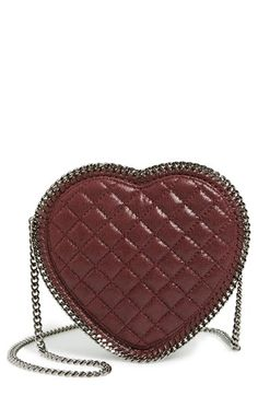 93d4de3f1e93 Stella McCartney  Falabella Heart  Quilted Faux Leather Crossbody Bag