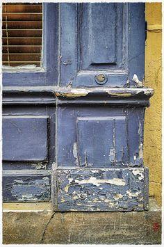 Détail de vieille boutique, à Paris.