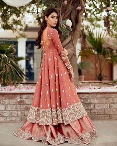 Call/WhatsApp : Unique and thoughtful craftsmanship makes our outfit different and even reserves its value for the future. Indian Gowns Dresses, Indian Fashion Dresses, Indian Designer Outfits, Pakistani Dresses, Indian Outfits, Indian Anarkali, Pakistani Garara, Pakistani Fashion Party Wear, Pakistani Wedding Outfits