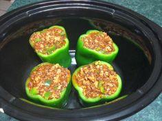 Crockpot green peppers