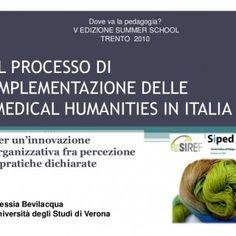Dove va la pedagogia? V EDIZIONE SUMMER SCHOOL TRENTO 2010 IL PROCESSO DI IMPLEMENTAZIONE DELLE MEDICAL HUMANITIES IN ITALIA Per un'innovazione organizzativ. http://slidehot.com/resources/bevilacqua-alessia-template-summer-2010-modalita-compatibilita.49841/