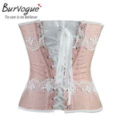 db0e24104d9 Burvogue Waist Control Corsets and Bustiers Sexy Women Overbust Plus Size  Corset Gothic Corselet Lace Up Body Shaper For Women