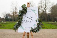 Welkomsbord wedding stationery